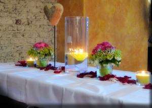 wunderschöne Tischdekoration mit Herz ;)