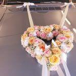Hochzeit Rosenherz für's Auto