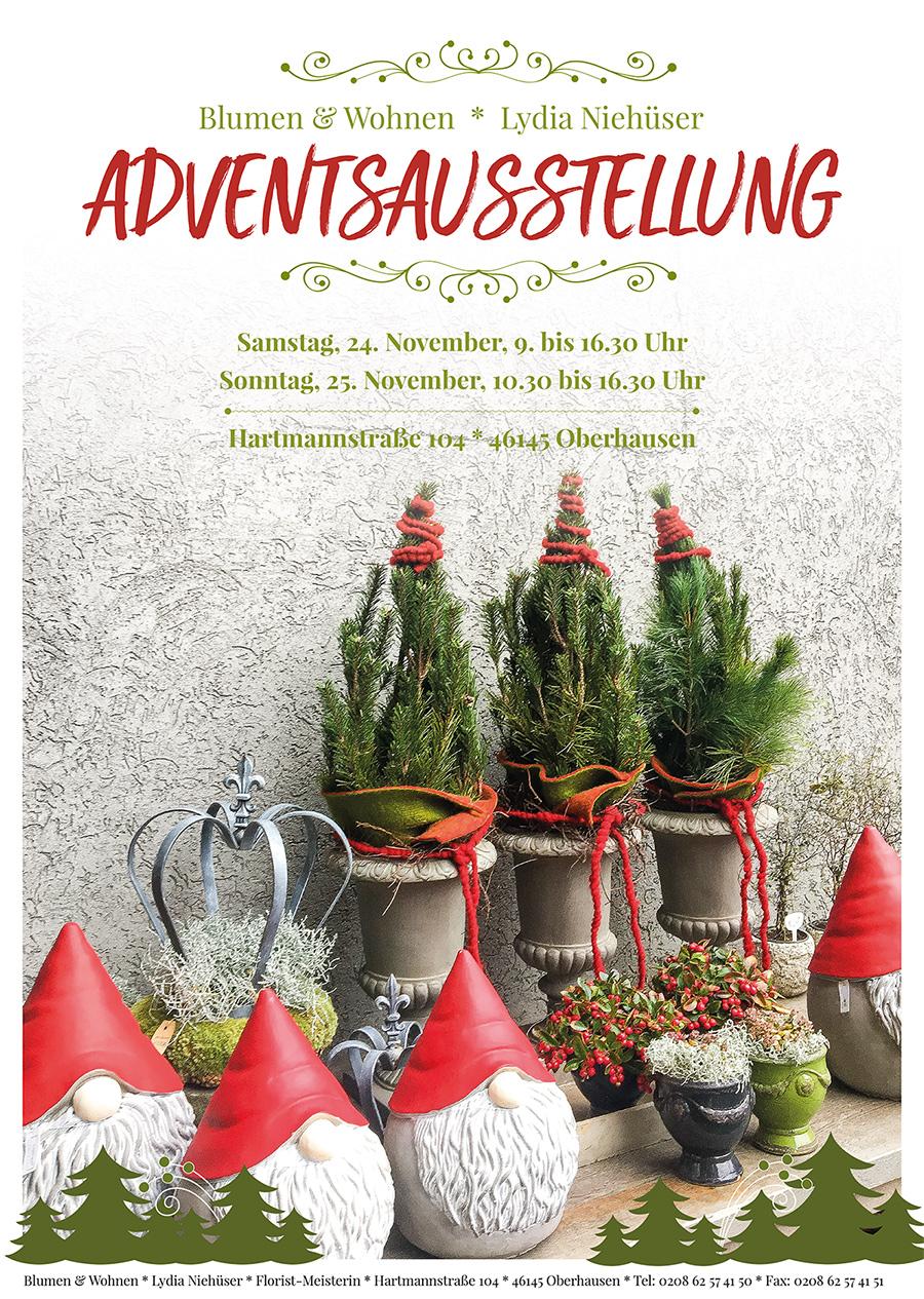 Adventsausstellung 2018 bei Blumen & Wohnen Lydia Niehüser